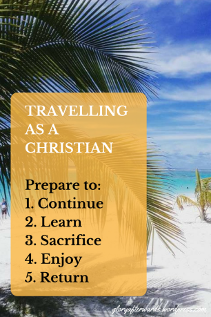 travelling as a christian